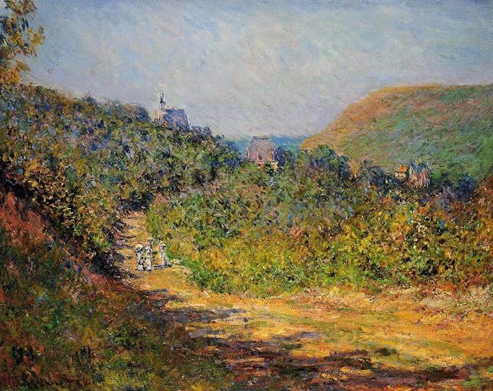 Claude Monet At Les Petit-Dalles