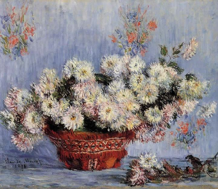 Claude Monet Chrysanthemums 1