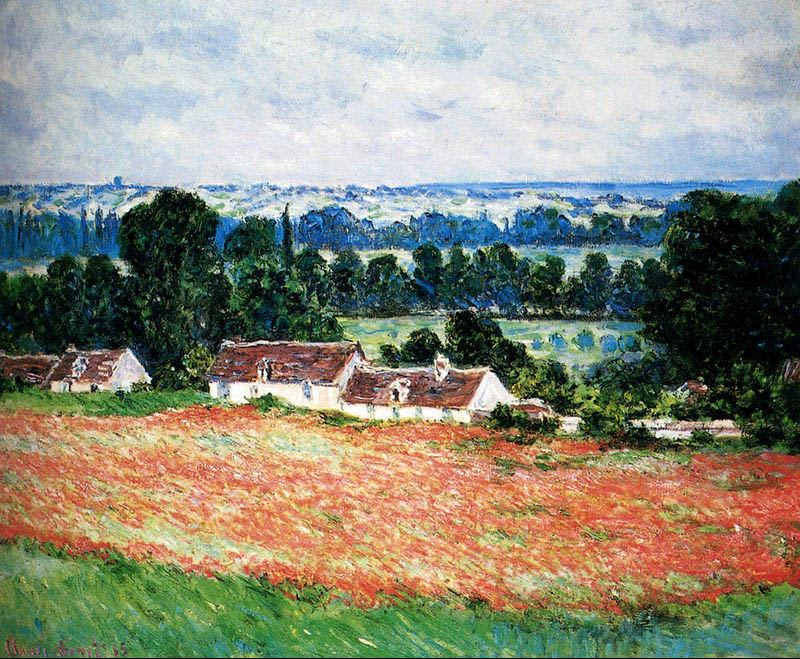 Claude Monet Field Of Poppies, Giverny