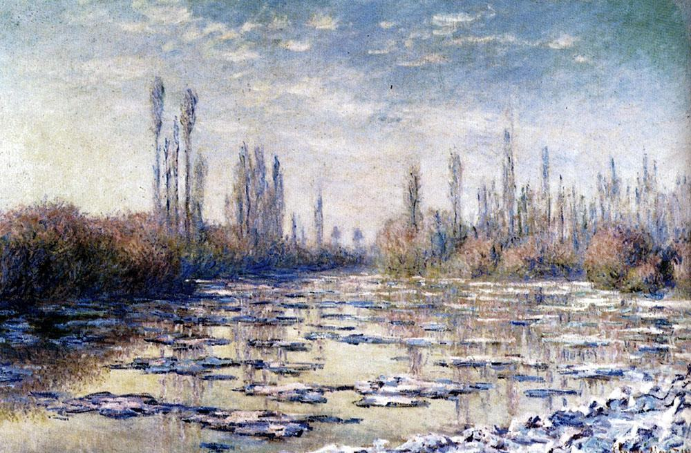 Claude Monet Floating Ice Near Vetheuil