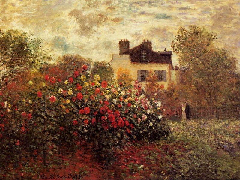 Claude Monet Garden At Argenteuil Aka The Dahlias