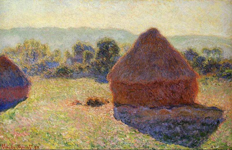 Claude Monet Grainstacks In The Sunlight Midday