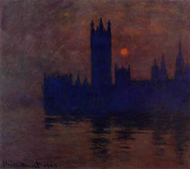 Claude Monet Houses of Parliament Sunset 2