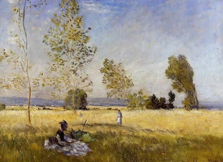 Claude Monet Meadow at Bezons