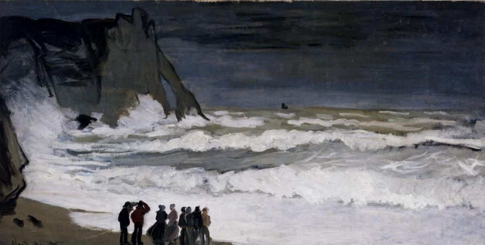 Claude Monet Rough Sea At Etretat