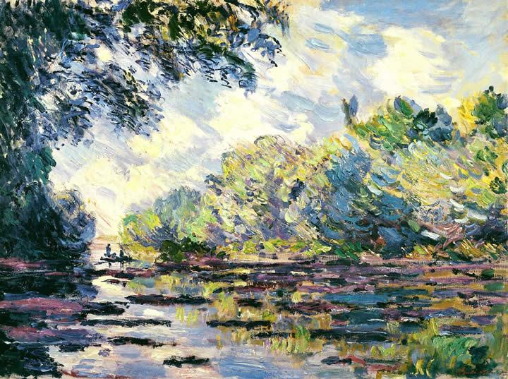 Claude Monet Section of the Seine near Giverny