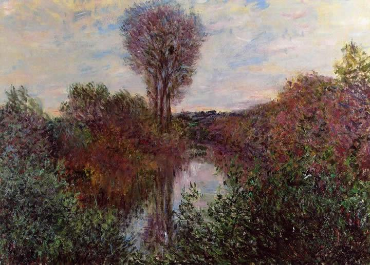 Claude Monet Small Arm of the Seine at Mosseaux