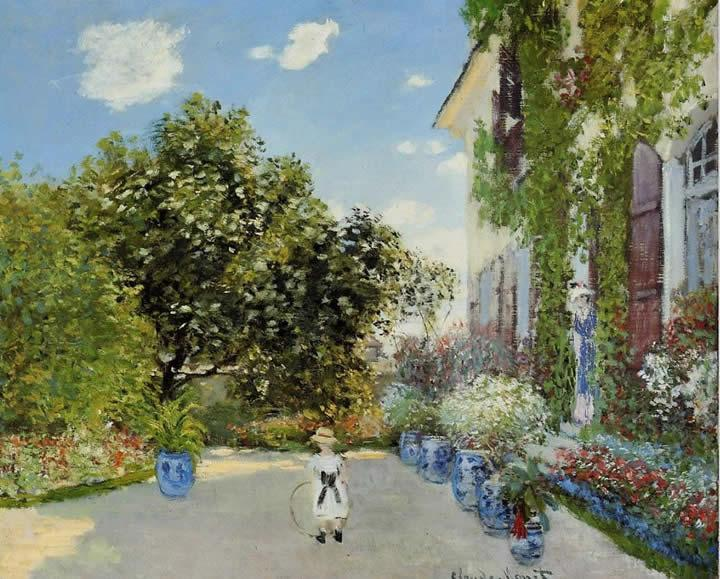 Claude Monet The Artist's House at Argenteuil