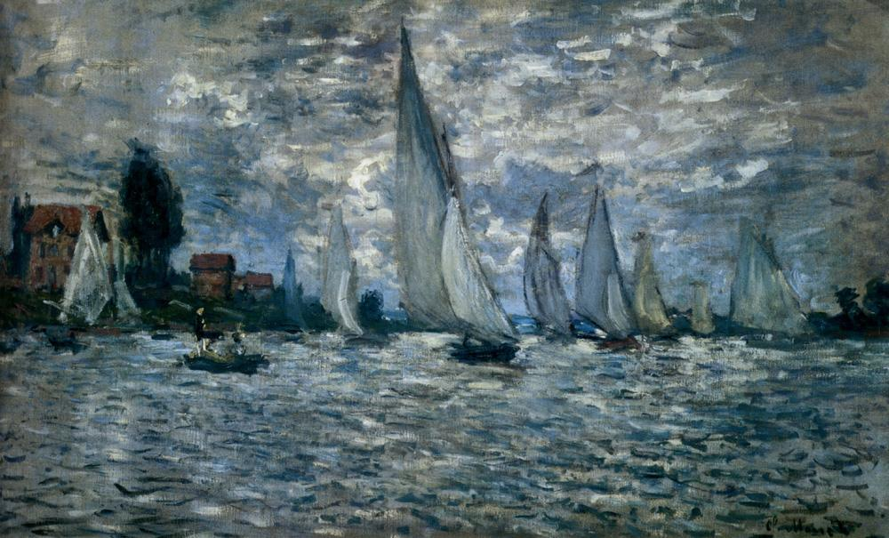 Claude Monet The Boats Regatta At Argenteuil