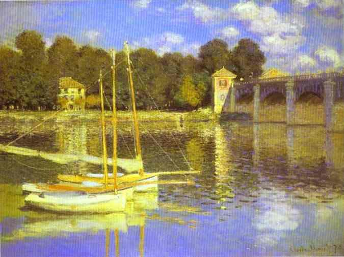 Claude Monet The Bridge at Argenteuil