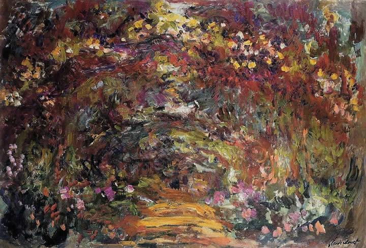 Claude Monet The Path under the Rose Trellises Giverny