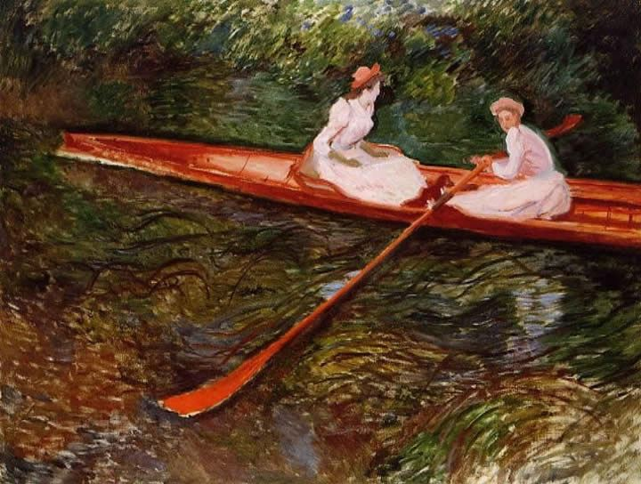 Claude Monet The Pink Skiff