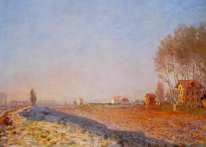 Claude Monet The Plain of Colombes White Frost