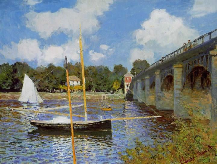 Claude Monet The Road Bridge at Argenteuil 1