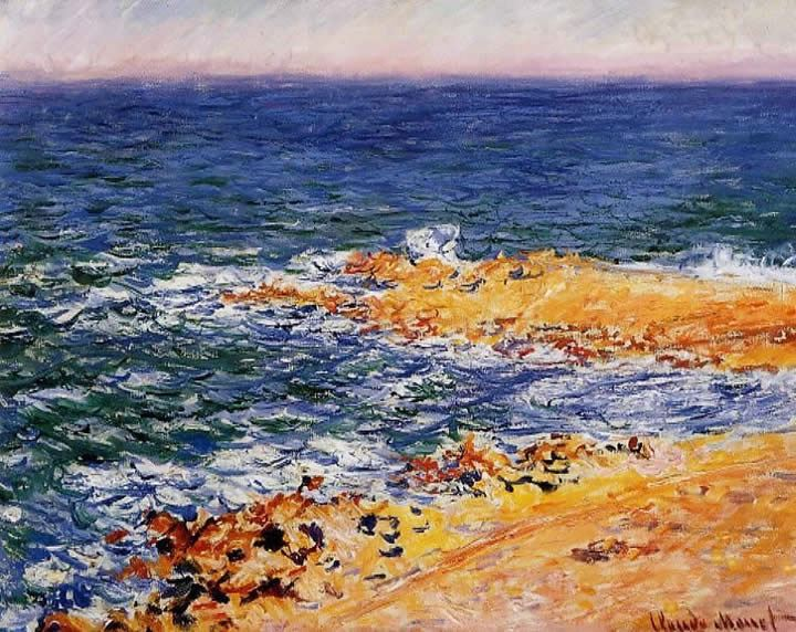 Claude Monet The Sea in Antibes