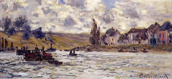 Claude Monet The Village of Lavacourt