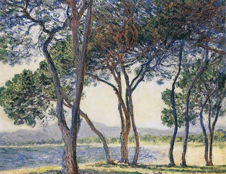 Claude Monet Trees by the Seashore at Antibes
