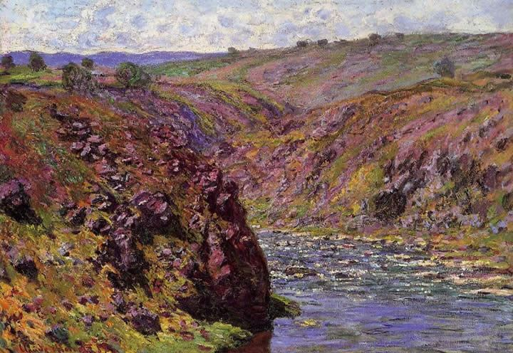 Claude Monet Valley of the Creuse Sunlight Effect