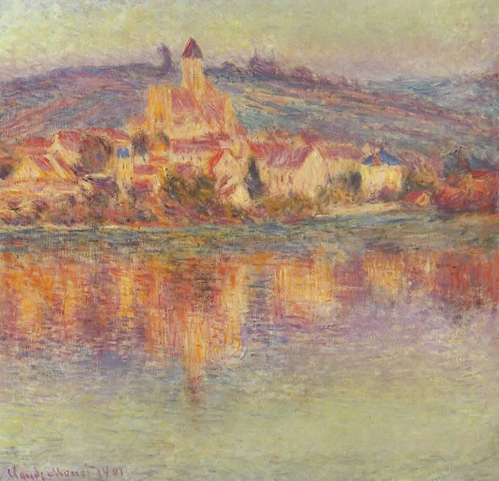 Claude Monet Vetheuil at Sunset