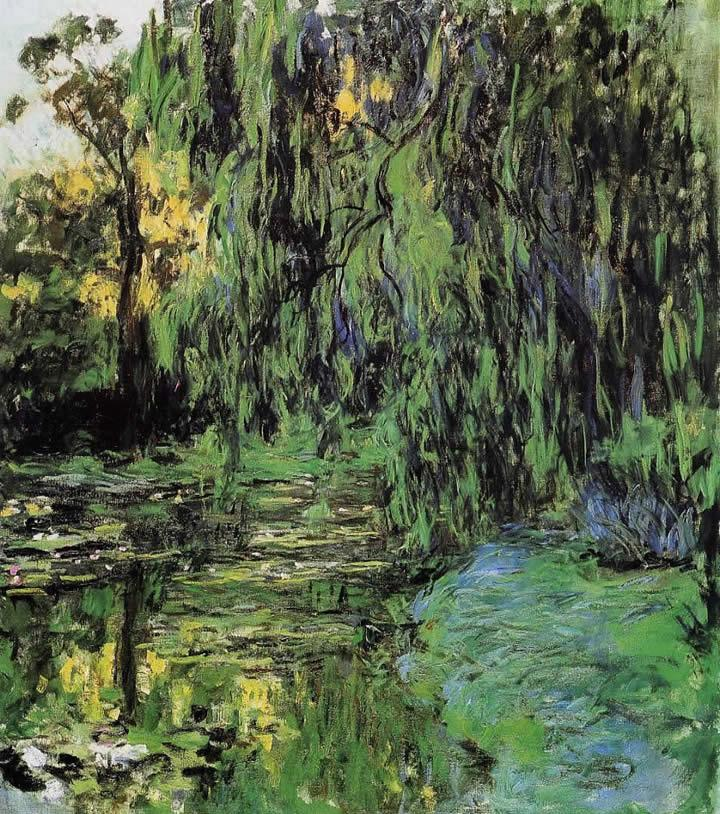 Claude Monet Weeping Willow and Water-Lily Pond 2