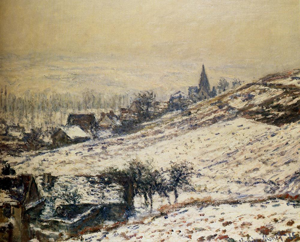 Claude Monet Winter At Giverny