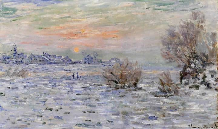 Claude Monet Winter on the Seine Lavacourt