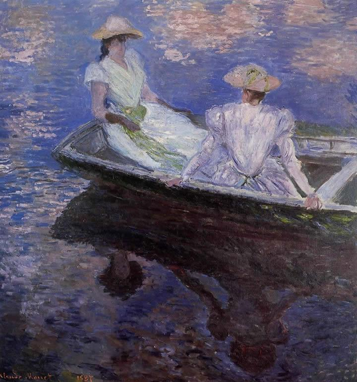 Claude Monet Young Girls in a Row Boat