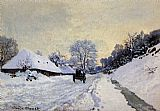 Famous Snow Paintings - A Cart On The Snow Covered Road With Saint Simeon Farm