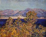 Claude Monet Antibes Seen from the Cape Mistral Wind painting