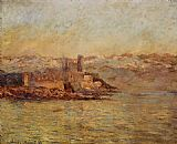 mari Canvas Paintings - Antibes and the Maritime Alps