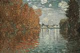 Autumn Canvas Paintings - Autumn Effect At Argenteuil