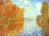 Autumn Canvas Paintings - Autumn at Argenteuil