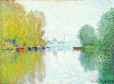 Autumn Canvas Paintings - Autumn on the Seine, Argenteuil