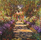 Claude Monet Wall Art - Avenue in Giverny