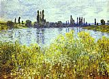 Claude Monet Bank of the Seine Vetheuil painting