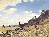 beach Canvas Paintings - Beach at Honlfeux