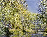 Claude Monet Bend in the River Epte painting