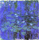 Lilies Canvas Paintings - Blue Water Lilies
