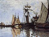 Famous Port Paintings - Boats in the Port of Honfleur