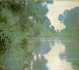 ear Canvas Paintings - Branch of the Seine near Giverny