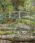 Famous Lilies Paintings - Bridge over a Pool of Water Lilies