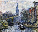 Claude Monet Canal In Amsterdam painting