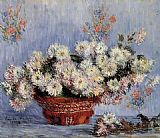 sant Canvas Paintings - Chrysanthemums 1