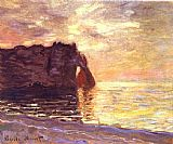 day Canvas Paintings - Etretat The End of the Day