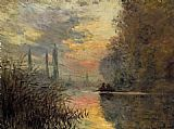 Evening Canvas Paintings - Evening at Argenteuil