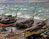 Claude Monet Fishing Boats painting