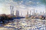 Claude Monet Floating Ice Near Vetheuil painting