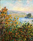 Claude Monet Wall Art - Flower Beds At Vetheuil