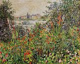 Claude Monet Flowers at Vetheuil painting