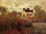 Claude Monet Garden At Argenteuil Aka The Dahlias painting